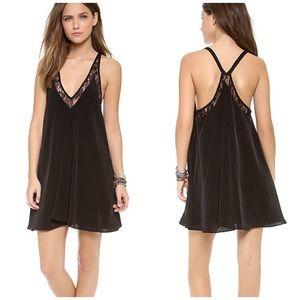 Lovers + Friends black lace Hula babydoll dress